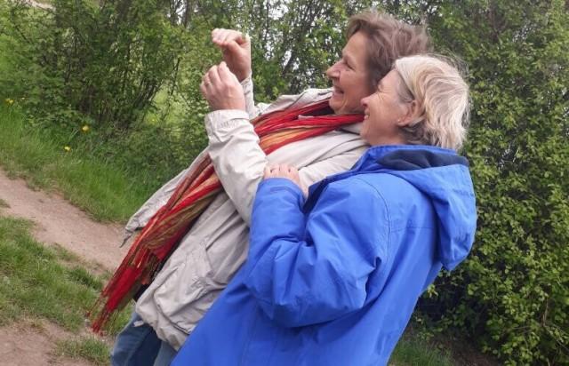 Gabi und Barbara im Glück