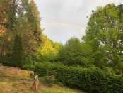 Regenbogen über Eußerthal in der Südpfalz